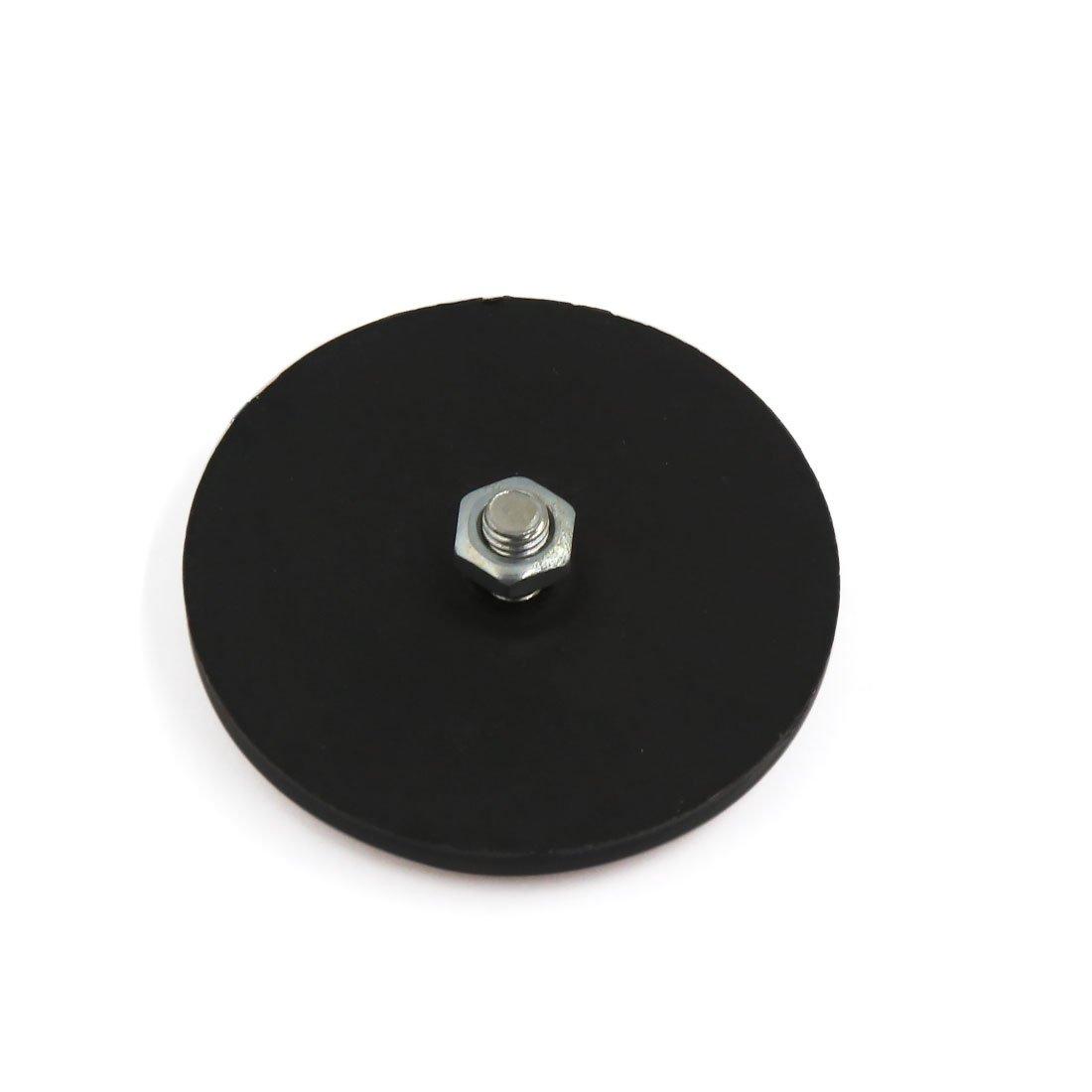 uxcell 5 Pcs Orange Black Round Shape Reflective Reflector for Motorcycle