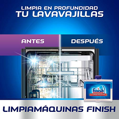 Finish Limpiamáquinas Regular Líquido para Lavavajillas, pack de 3 ...