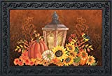 Briarwood Lane Fall Lantern Primitive Doormat Pumpkins Sunflowers Indoor Outdoor 18'' x 30''