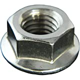 STAINLESS STEEL SERRATED FLANGE HEX LOCK NUTS 1/4-20 Qty 25