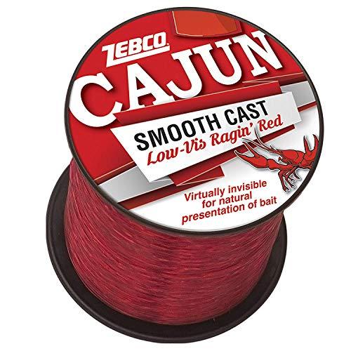 Cajun Line Zebco Cajun Low-Vis Fishing Line 1/4- Lb/Test Spool 6 Lb/Test Low-Viz Ragin Red, 6 lb