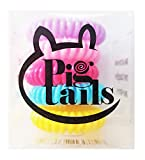pigtail ties - Pig Tails Candy Colored Spiral Pony Tail Premium Hair Tie Bobbles (5 pack mulit-colored)