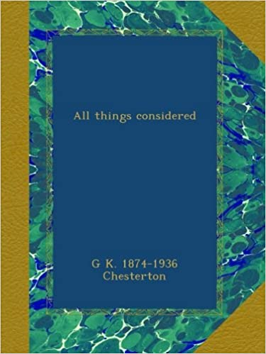 E book for free download All things considered (German Edition) PDB B00B3617CK