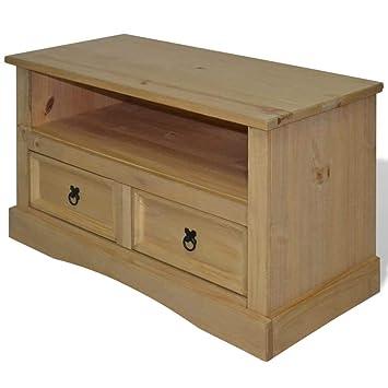 Amazon.com: vidaXL - Mueble de TV (mueble de madera mexicana ...