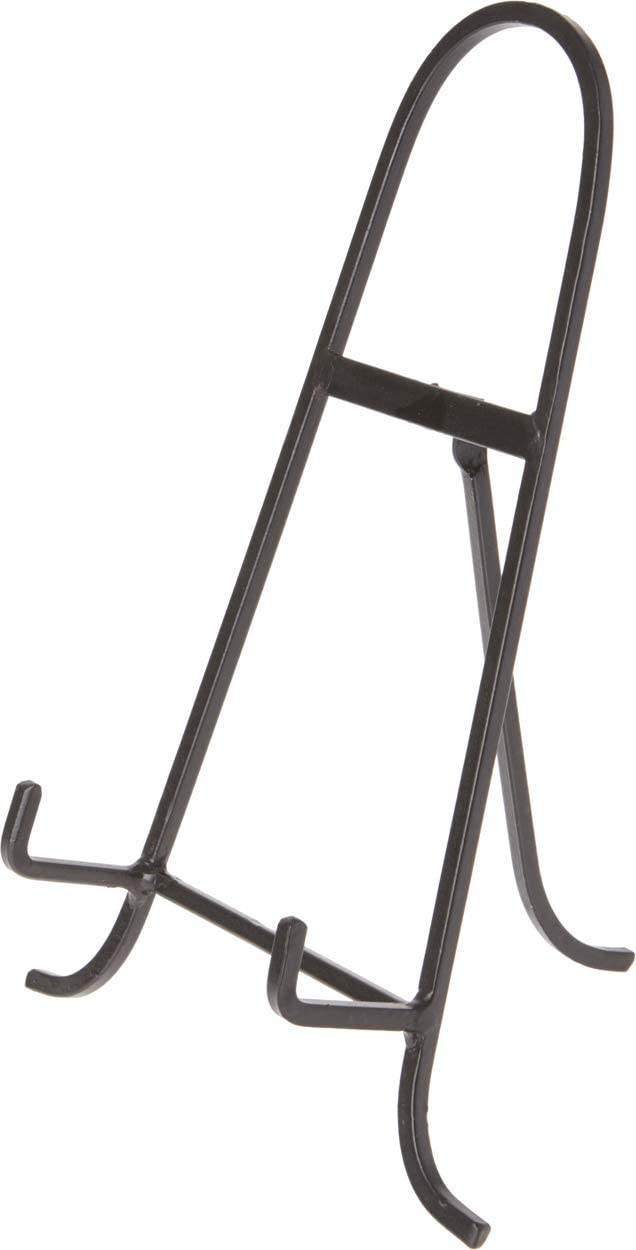 """Bard's Black Wrought Iron Easel, 11.5"""" H x 8"""" W x 7"""" D"""