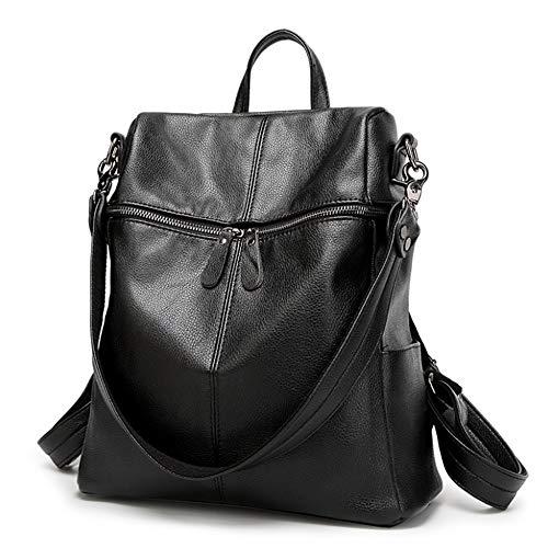 Zaino Sakuldes Black Moda Viaggio Black In Studente Pelle Donna Per Borsa color Da rBgxnpBC