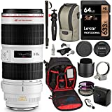 Canon EF 70-200mm f/2.8L IS II USM Zoom Lens, Sandisk 64GB Card, Ritz Gear Cleaning Kit & Accessory Bundle