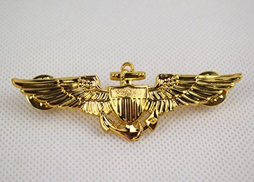 Repro WWII us naval aviators wings metal Pin Badge (Naval Aviator Wings)