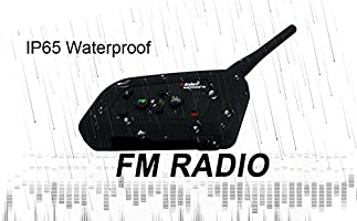 2 pack V4 Intercomunicador Bluetooth Motocicletas,Intercomunicador de Casco,Casco Auriculares para Montar a Caballo//Esqu/í//Moto de Nieve//Scooter//MTB,4/Corredor Intercom simultan/és//FM Radio//Rango 1200m