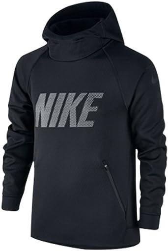 Saliente Acuoso viernes  Amazon.com: Nike Kids Therma Sphere Hoodie Little Kids/Big Kids  Black/Black/Black Boy's Sweatshirt: Clothing