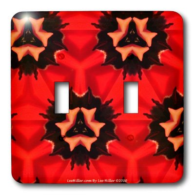 lsp_5795_2 Lee Hiller Designs Kaleidoscope - Kaleidoscope Tulip Red 2 - Light Switch Covers - double toggle switch