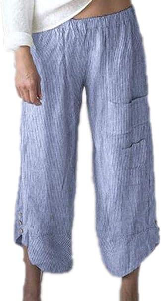 Pantalones Anchos de Mujer Pantalones de Cintura Alta de Trabajo ...