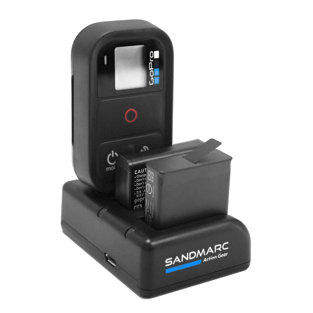 SANDMARC Procharge: Triple Charger for GoPro Hero 6, Hero 5, 4 and Smart (Wifi) Remote SM-228