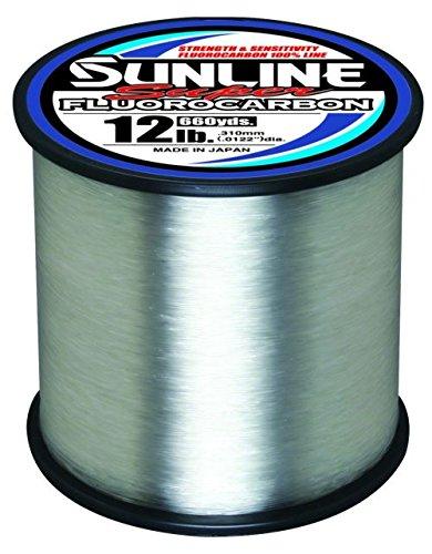 Sunline Single - Sunline 63035884 Super Fluorocarbon 12 Lb. Super Fluorocarbon, Clear, 660 yd