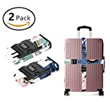 YEAHSPACE Llama Cactus Luggage Straps Suitcase Belt TSA Approved Combination Lock Travel Accessories 2-Pack