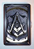 Freemasonry Masonic Lodge Square & Compasses: Stainless Steel ID or Cigarettes Case (King Size or 100mm)