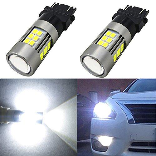 Alla Lighting 2pcs Super Bright 1000 Lumens High Illumination 3035 27-SMD Chipsets 6000K Xenon White 3156 3157 3057 4157NA 3056 T25 LED Light Bulbs (Honda Accord Wagon Review)