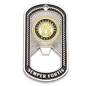 Navy Challenge Coin - Dog Tag - Bottle Opener Coin - Designed by Military Veterans - Officially Licensed Product - Coins For Anything from Coins For Anything Inc