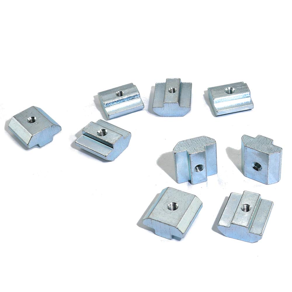 Boeray 50 pcs 40 Series Metric Carbon Steel Tee Nuts M6 Sliding T Nut for 4040 Aluminum Extrusion Profiles