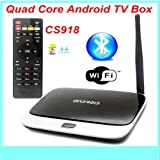 JahyShow® CS918 Amlogic S805 Quad Core Android TV Box 1G RAM 8G ROM Remote Control Smart TV Box KODI XBMC Pre-installed Miracast Android 1080P Video Streaming Media Player