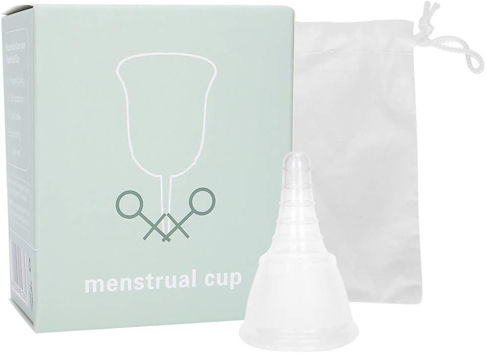 ZJchao Copa Menstrual Plegable de Silicona con Disco ...