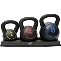Neo 3 STKS 3 Stuk Kettlebell Waterkoker Bell Set Gewichten Sets Oefening Thuis Gym Rack Stand 2 4 8 KG