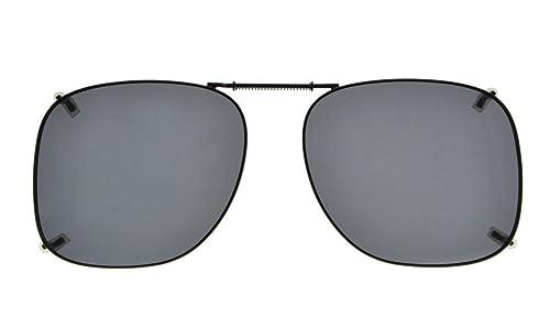Eyekepper Telaio in metallo Rim lente polarizzata Clip su occhiali da sole 53*46MM