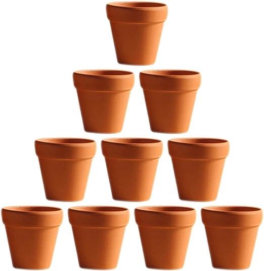 OUNONA 10 Unids 5.5x5 cm Pequeño Mini Terracota Maceta de Cerámica Cerámica Macetas de Cactus Macetas de Plantas Suculentas Macetas Grandes para Plantas de Artesanía Favor de La Boda: Amazon.es: Jardín
