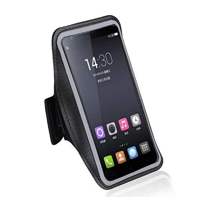 DFV mobile - Armbandtasche Sport Armband Berufsausrüstung Wasserabweisende aus Neopren Premium für => Oppo R1X > Schwarz