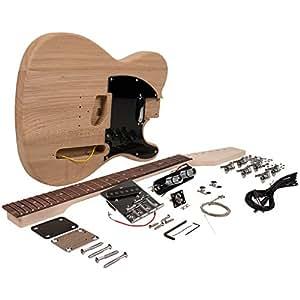 Seismic Audio - SADIYG-05 - DIY Classic Tele Style Electric Guitar Kit - Unfinished Luthier Project Kit