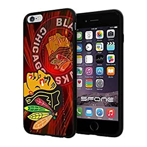 """Chicago Blackhawks NHL Logo #1293 iPhone 6 Plus (5.5"""") I6+ Case Protection Scratch Proof Soft Case Cover Protector by ruishername"""