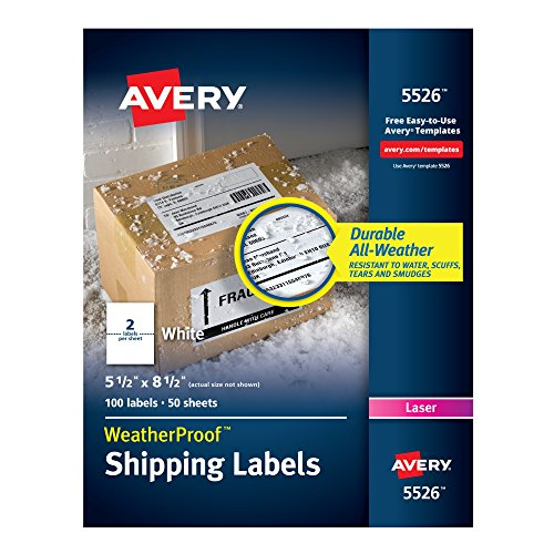 Avery weatherproof mailing labels with trueblock for Avery template 5523