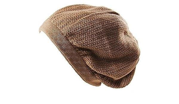 20f74e9dd Amazon.com: Brown Dread Tam Cap Rasta Hat Crown Beret Beanie ...