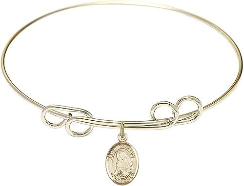 Madeline Sophie Barat Charm. DiamondJewelryNY Double Loop Bangle Bracelet with a St