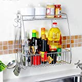 Hyun times Shelf Stainless Steel 36.5 20 37cm Wall-mounted Floral Bottle Kitchen Shelf