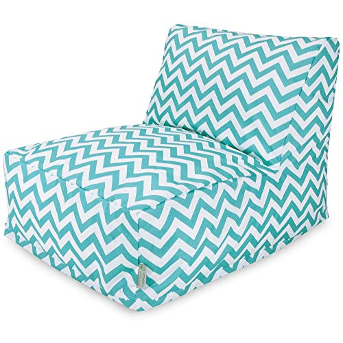 Majestic Home Goods Chevron Bean Bag Chair Lounger, Teal