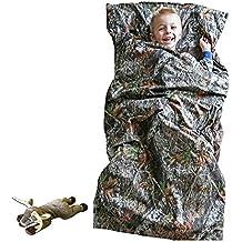 Camo Kids Mossy Oak Breakup Slumber Sleeping Bag & Animal Pillow (Whitetail Deer Pillow)
