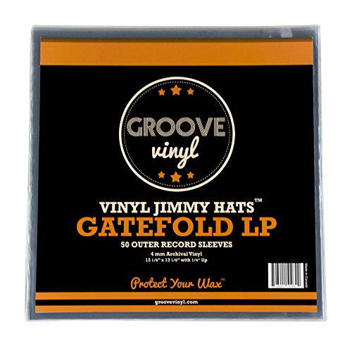 Groove Vinyl Gatefold LP Premium Outer Record Sleeves (50 Pack)