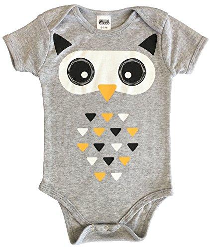 CHUBS Tri- Owl, Unisex Baby Bodysuit, Cute Baby Shower Gift, Owl One-Piece (3-6 (Owl Babyshower)
