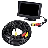 Kobwa Industrial Video Endoscope 20Meters, 4.3 Inch TFT-LCD Color LCD Montior 5V Mini AV Borescope Inspection Snake Cmaera with 10mm Diameter Waterproof Probe CMOS Camera