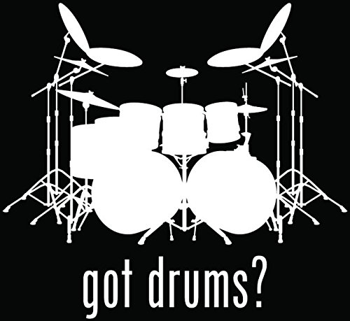 drums window decal - 9