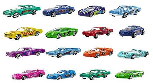 Assorted Diecast Race Car Set