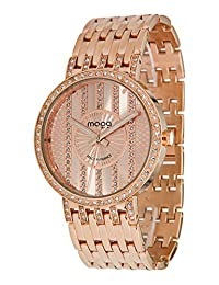 Moog Paris Look at Me Women's Watch with Rose Gold Dial, Rose Gold Stainless Steel Strap & Swarovski Elements - M45284-103