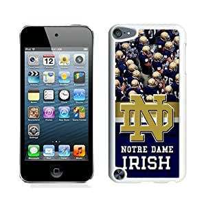 Popular iPod Touch 5 Cover Case ,Unique And Fashionable Designed With Notre Dame Irish White iPod Touch 5 Cover Good Quality Phone Case