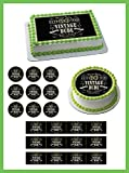 vintage dude 60 - Vintage Dude 60th Edible Cake and Cupcake Topper, Decor - 2' cupcake (12 peaces/sheet) inches