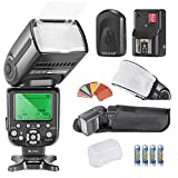 Neewer NW565EX I-TTL Slave Flash Speedlite Kit for Nikon DSLR Camera,includes(1)TTL Flash+(1)Soft&Hard Diffuser+(1)35-piece Filters+(1)16 Channels Wireless Trigger+(4)LR Battery