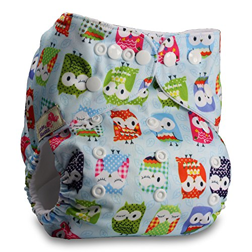 Littles & Bloomz, Reusable Pocket Cloth Nappy, Fastener: Popper, Set of 1,...