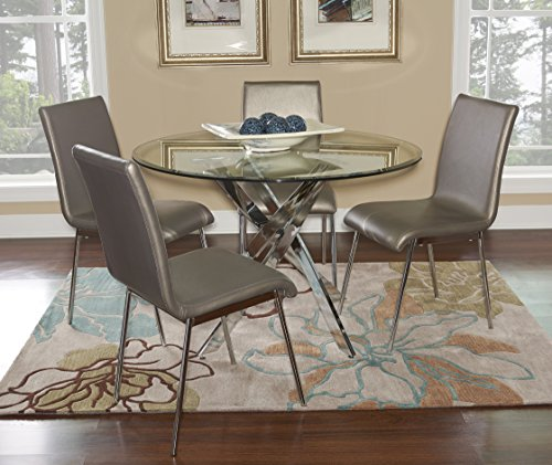 Powell 205-413M1 5pc Putnam Dining Set413M1 Set, Cool Chrome