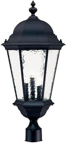 Acclaim 5527BK Telfair Collection 3-Light Post Mount Outdoor Light Fixture, Matte Black