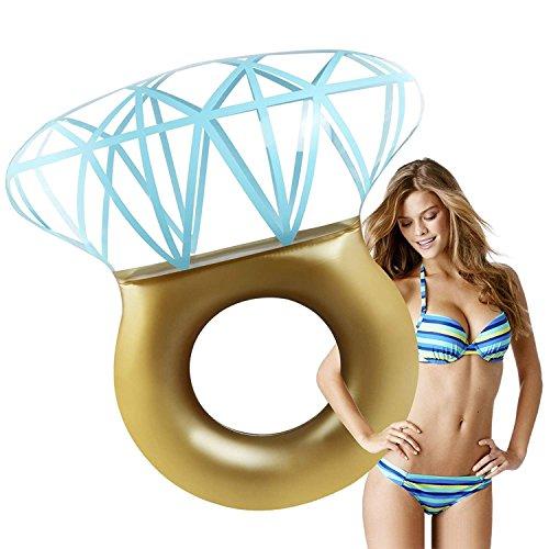 Zakara Diamond Ring Swimming Pool Inflatable Float for Bachelorette Parties Summer 2018